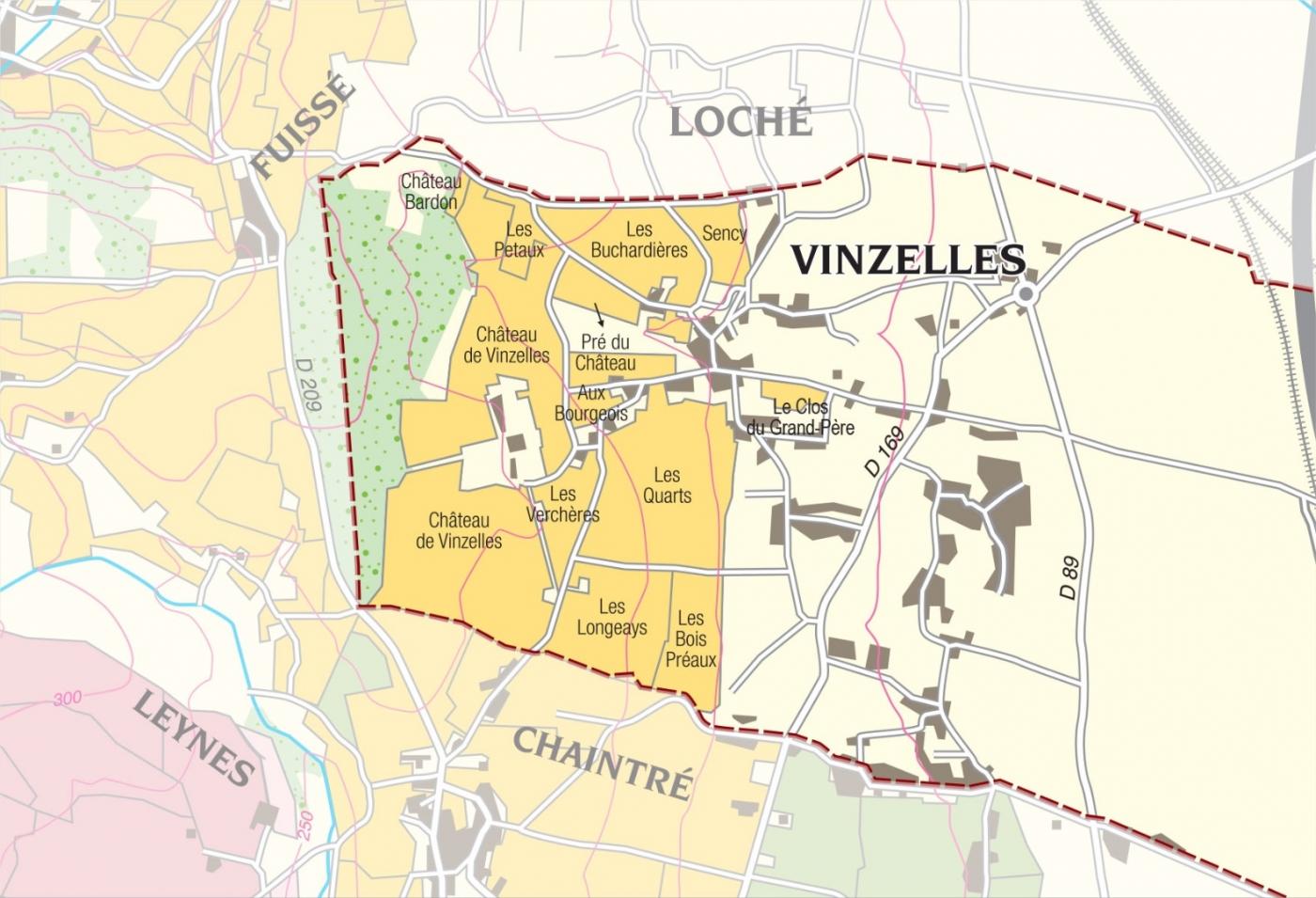 Carte parcelle vin - Pouilly-Vinzelles La Soufrandière